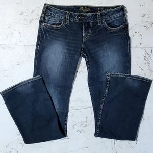 SILVER JEANS Tuesday Blue Low Rise Flare Leg 29/33
